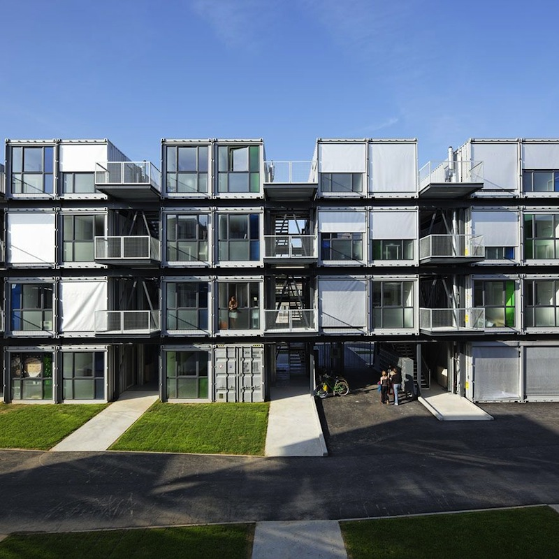 Student Apartments: Shipping Container Homes: Cattani Architects, Cité A Docks