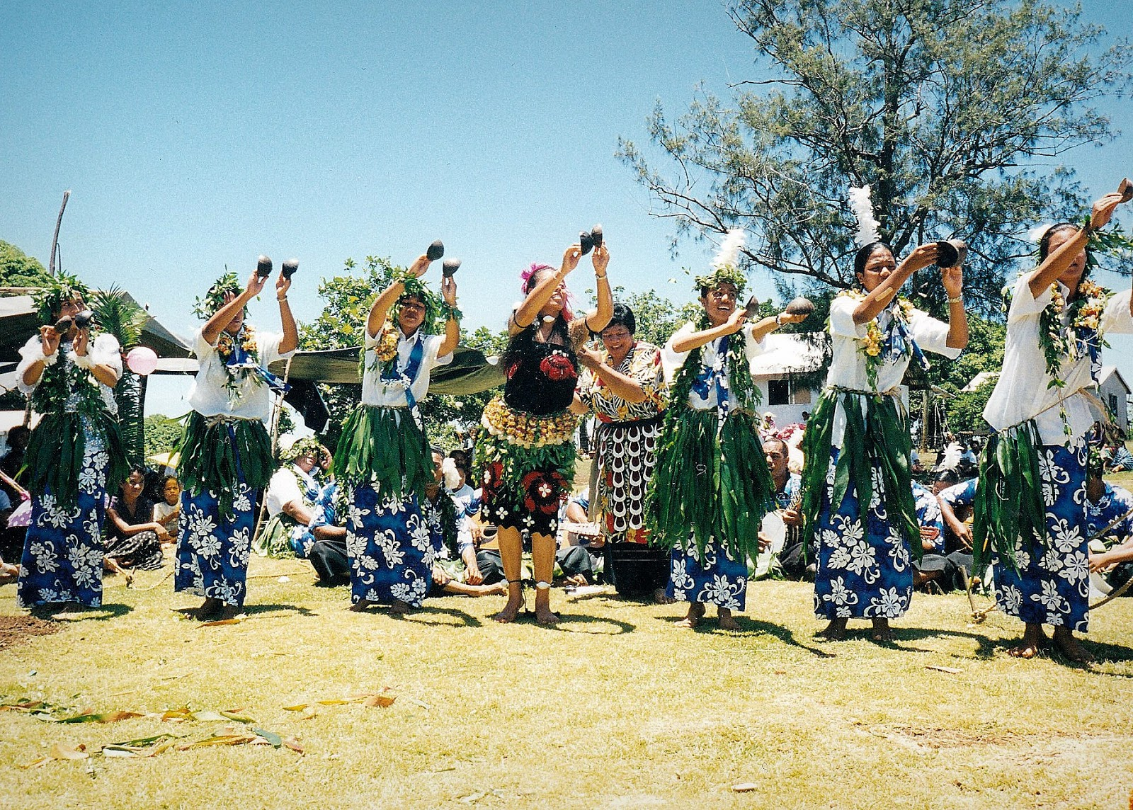 At this Tongan feast, there was also dancing for the birthday celebrations