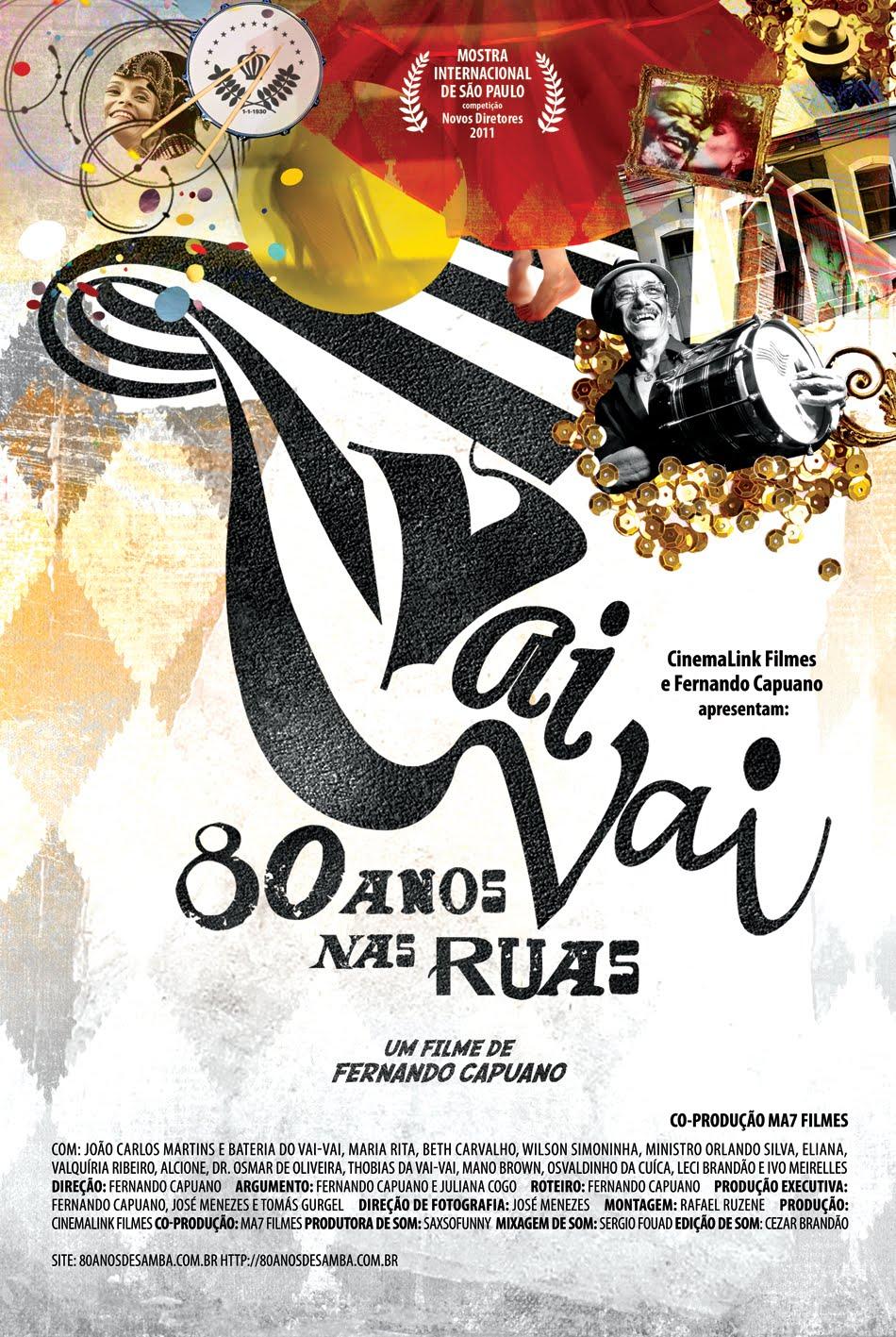 Portfólio Pri Grabert Cartaz Filme Vai Vai80 Anos Nas Ruas