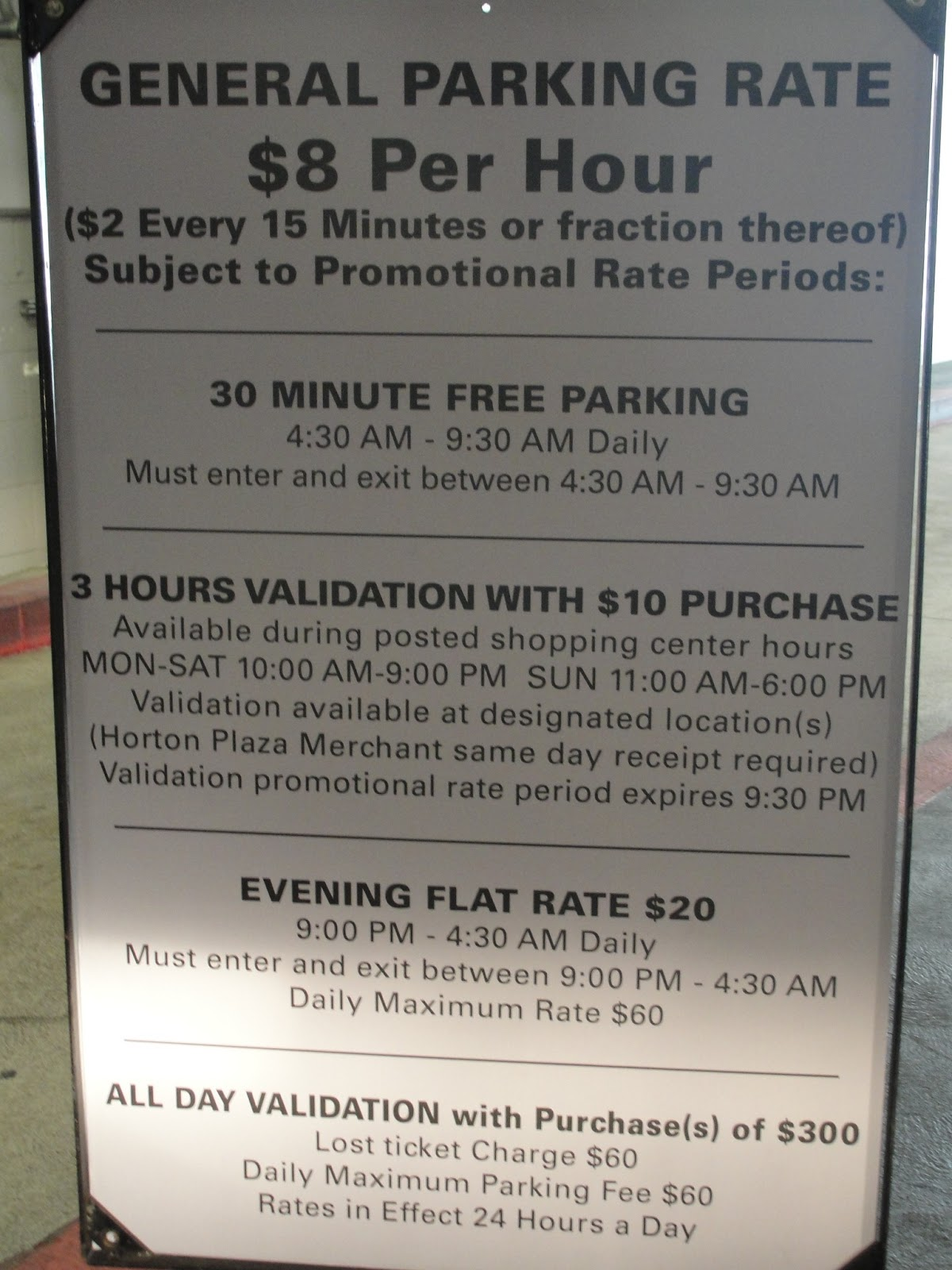What is validating parking mean