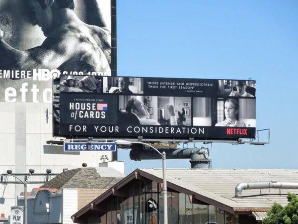 House of Cards 2014 Emmy Consideration billboard