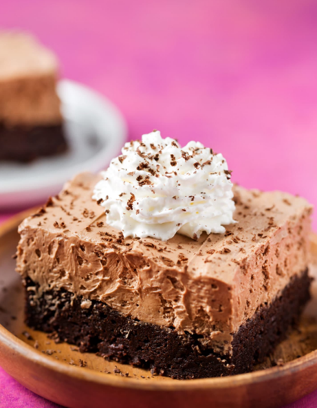 FRENCH SILK PIE BROWNIES