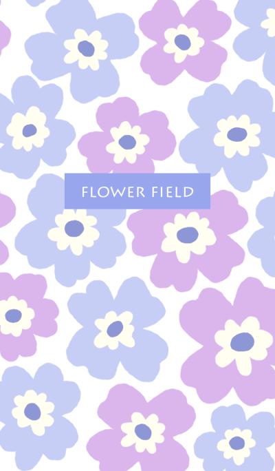 flower field-purple