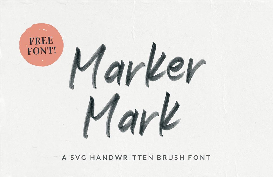 Marker Mark SVG Handwritten Font Free Download - Free Script