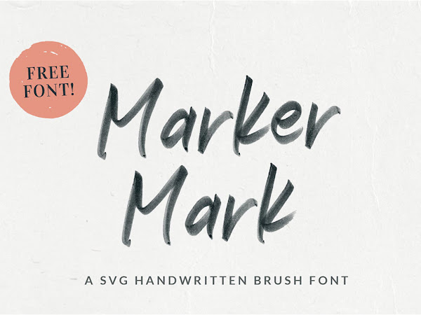 Marker Mark SVG Handwritten Font Free Download