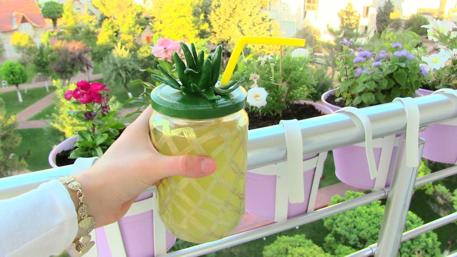 Ananas Desenli Bardak Yapımı polimer kil