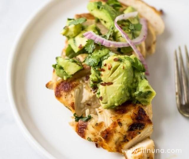 Healthy Cilantro Chicken With Avocado Salsa