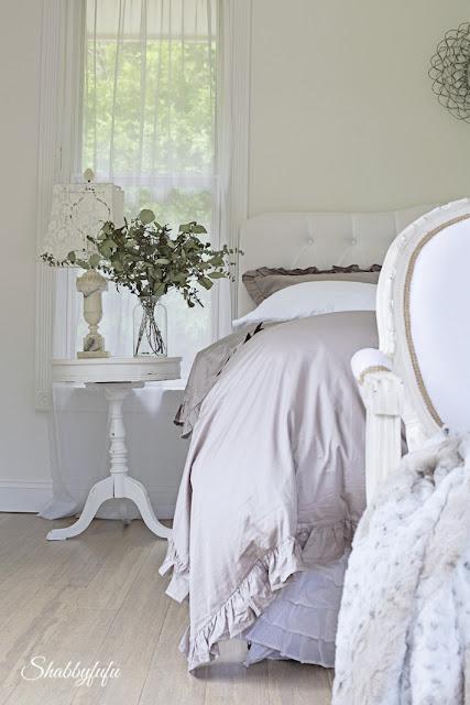 elegant bedroom styling
