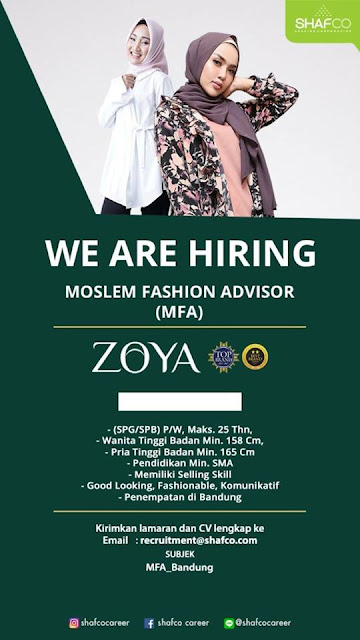 Loker Zoya Moslem Fashion Advisor