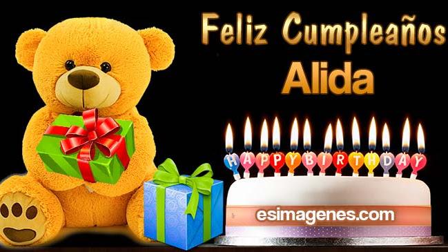 Feliz Cumpleaños Alida