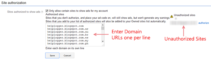 Using the AdSense Access and Authorization Feature 2