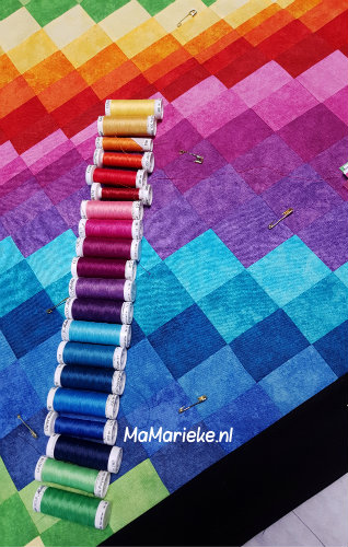 Bargello quilt top garen