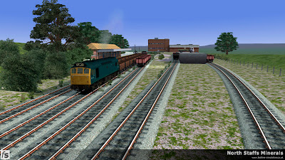 Fastline Simulation - North Staffs Minerals: Cheadle Yard springs to life as a class 25 working 9T20 shunts the local traffic. North Staffs Minerals, a route for RailWorks Train Simulator 2012.