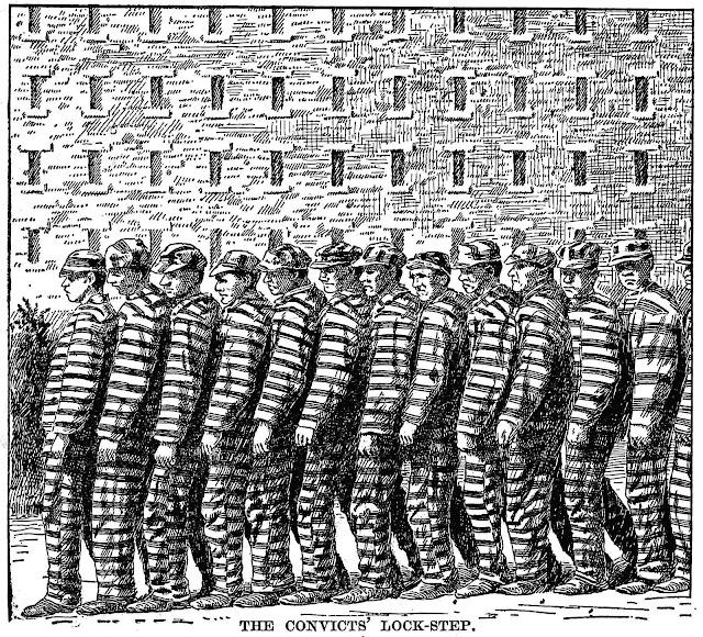 1898 prison lockstep shuffle