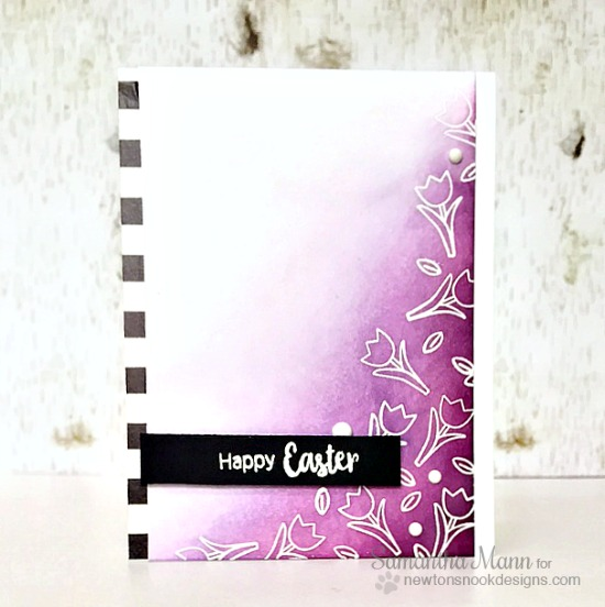 Easter Tulip Card by Samantha Mann | Hello Spring Stamp set by Newton's Nook Designs #newtonsnook #bunny #spring