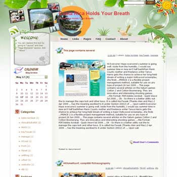 Costa Rica Holds Your Breath Blogger Template. free download template blogspot