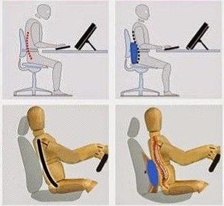 Postura na frente do computador e no carro: Almofada na região baixa da coluna protege a articulação lombar