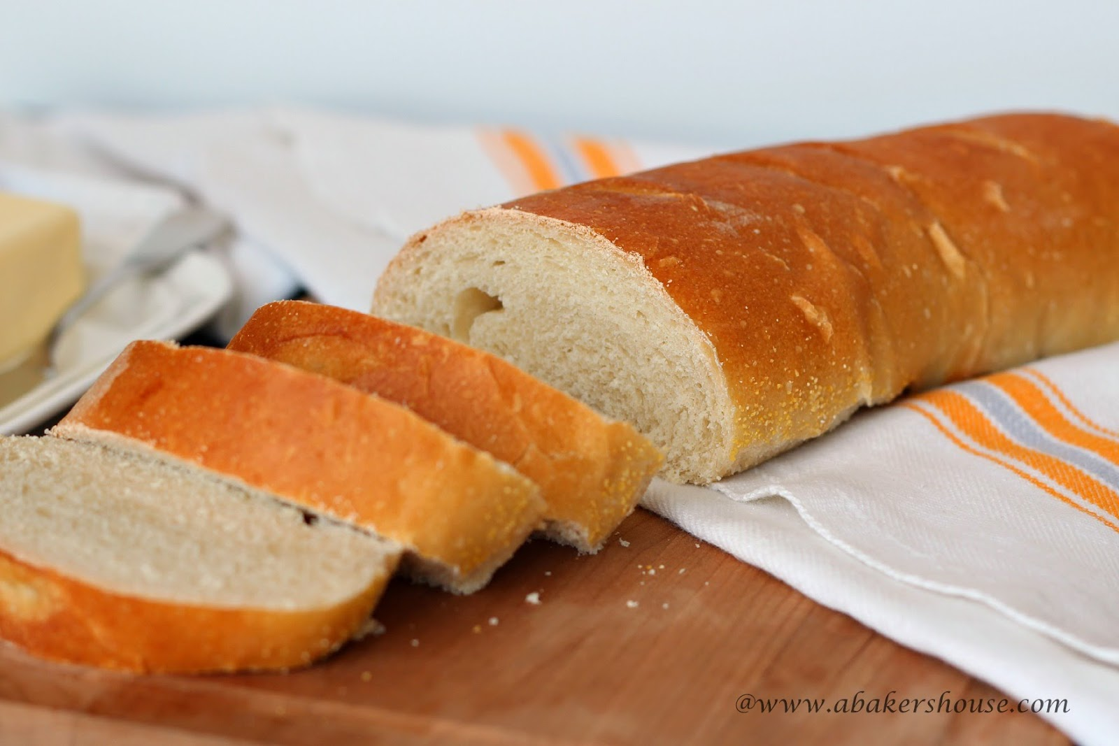 Easy French Bread from www.abakershouse.com