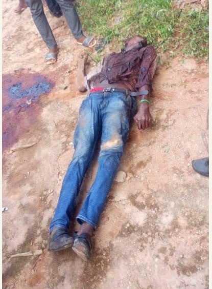 Graphic Photos: Keke Driver Gruesomely Murdered by Unknown People in Anambra
