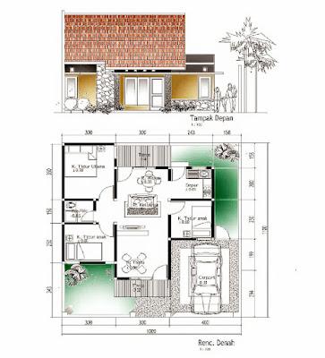 Denah dan bentuk rumah sederhana