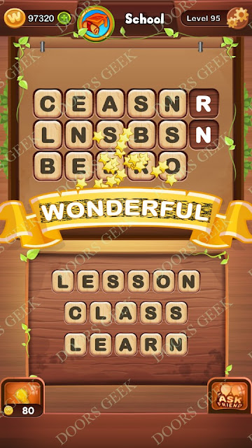 Word Bright Level 95 Answers, Cheats, Solutions, Walkthrough for android, iphone, ipad and ipod