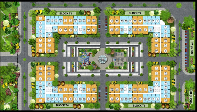 Mặt bằng tổng thể các tòa chung cư FLC Tropical City