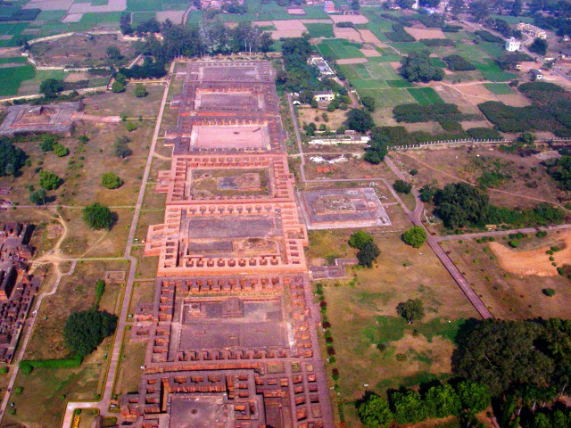 Destruction of Nalanda University by Bakhtiyar Khilji - Ariel View