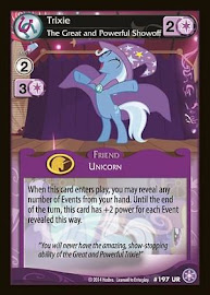 My Little Pony Trixie, The Great and Powerful Showoff The Crystal Games CCG Card