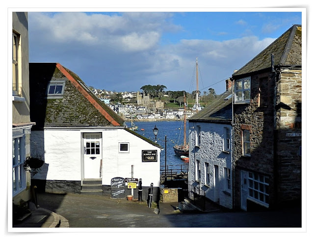 Cottages in Polruan, Cornwall