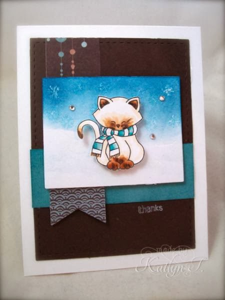 Kitty Card by K. Joy for Newton's Nook Designs Inky Paws Challenge #5