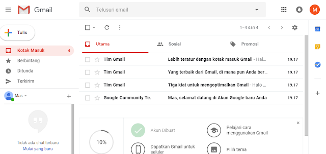 Halaman inbox gmail