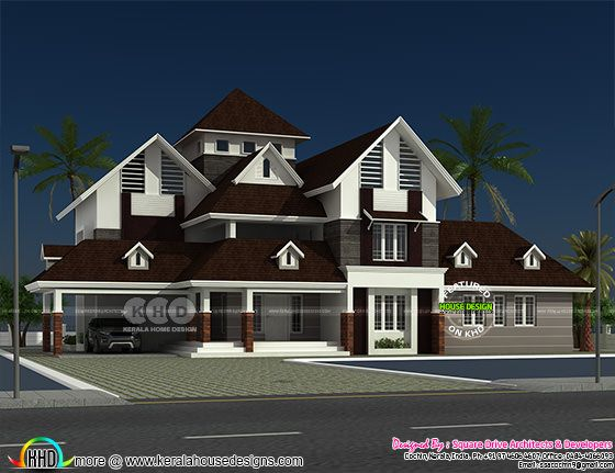 2652 square feet 4 bedroom attached sloping roof home