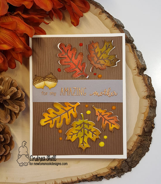 For my amazing mother by Andrea features Autumn Leaves by Newton's Nook Designs; #newtonsnook
