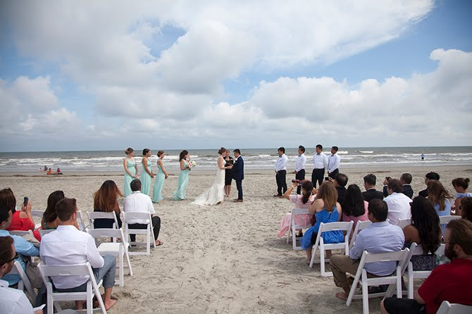 This Bride Walked Down a Beach to The Altar