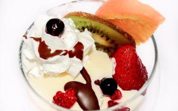 Wallpaper: Ice Cream, Fruits, Pancakes