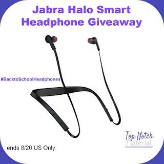 Enter the Jabra Halo Smart Headphone Giveaway. Ends 8/20
