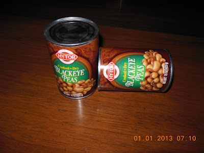 Savory Black Eyed Peas, simmer and serve!