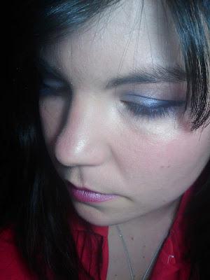 maquillaje en tonos lila
