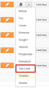 Edit Tata Letak di blogger