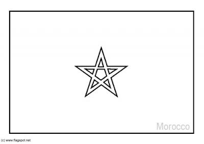 Laminas Para Colorear Coloring Pages Mapa Y Bandera De Marruecos Para Dibujar Pintar Colorear Imprimir Recortar Y Pegar