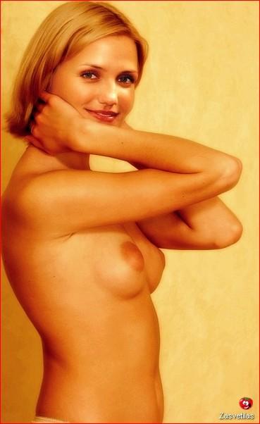 Камерон Диас голая грудь