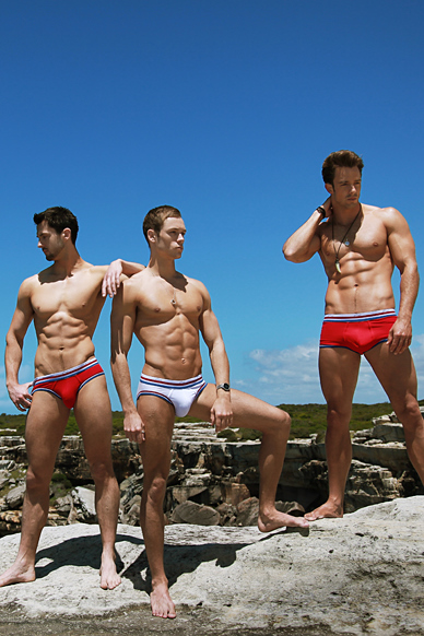From left to right: Alexander Beal, Stefan James Brydon and Ivan Scannell • Male Models