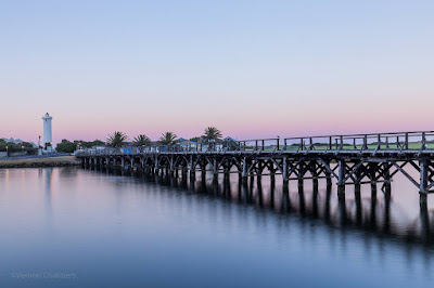 Copyright Vernon Chalmers: Wooden Bridge Before Sunrise - Woodbridge Island Cape Town