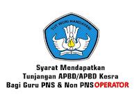 Syarat Operator Sekolah Mendapatkan Tunjangan Dari APBD