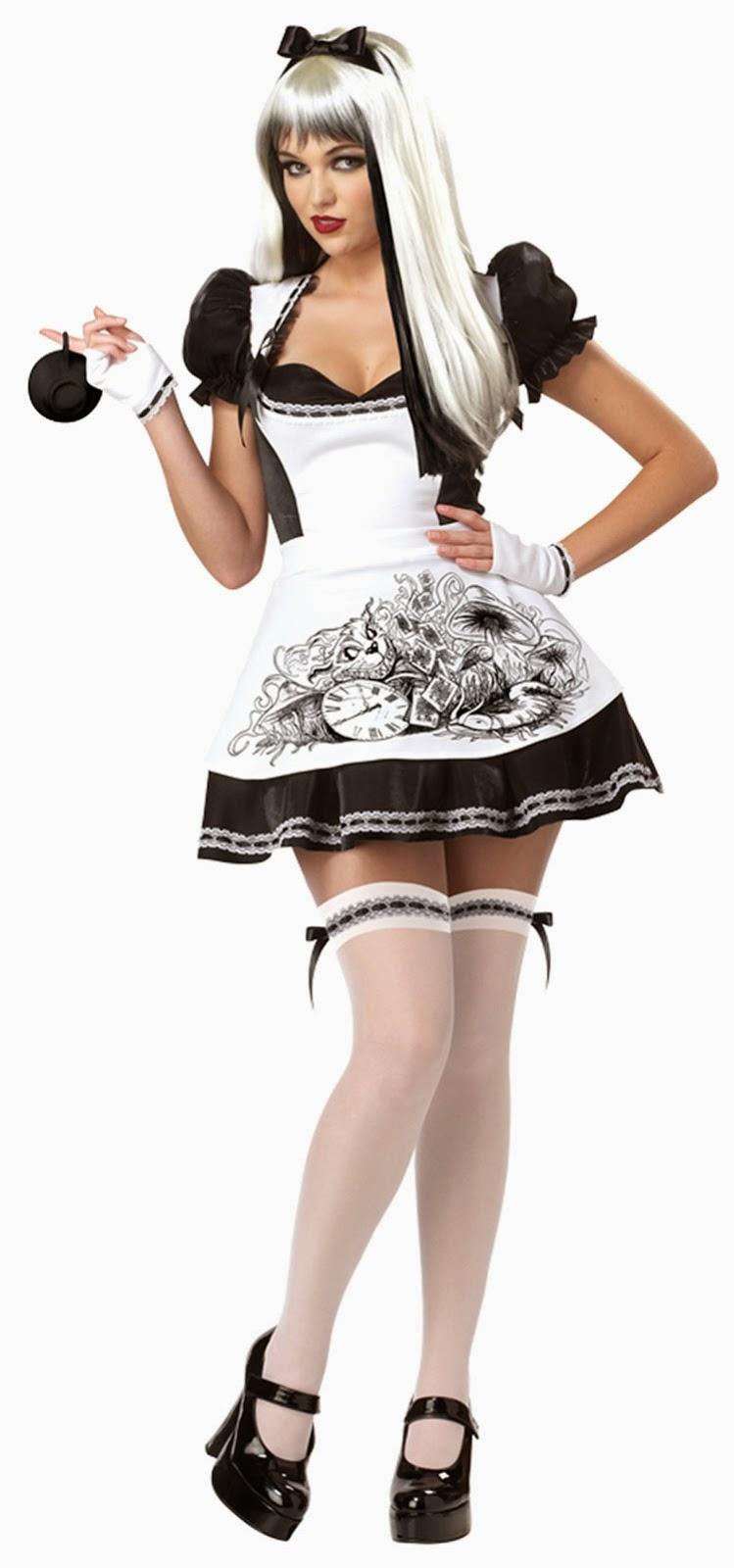 Sexy Alice in Wonderland Costume, Dark Alice Costume,  Fancy Dress, Jokers Masquerade, Halloween