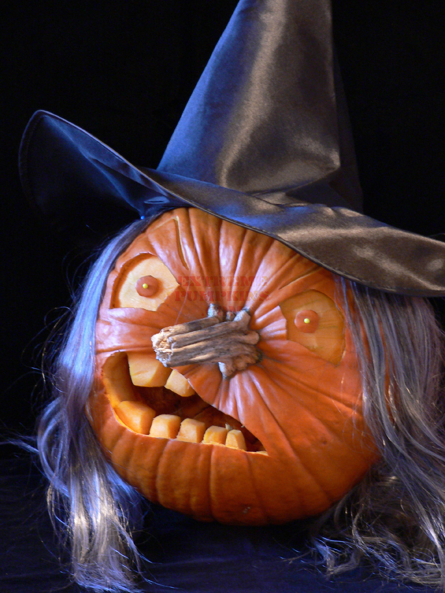 Craft klatch witch pumpkins halloween