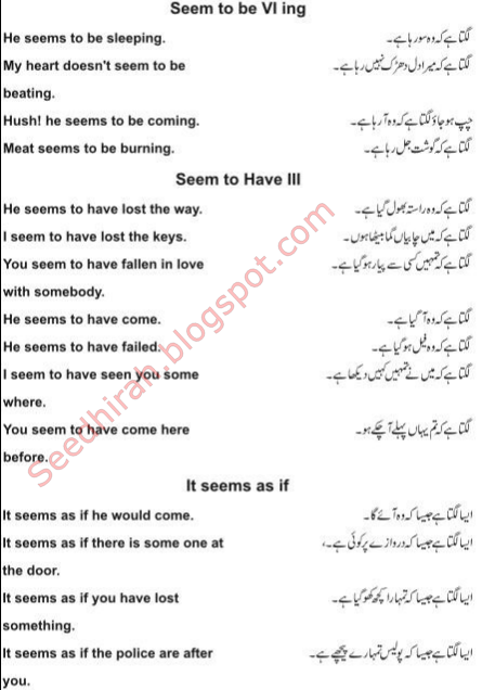 "Learn English In Urdu - ""I Think,Seem,As If"" ka istemal sekhain"