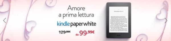 Kindle Paperwhite 3 - w walentynkowej promocji we włoskim oddziale Amazon tańszy o 30 euro