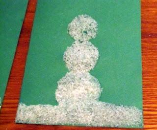 snowman card with kosher salt
