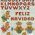 Abecedario con Ositos en Punto de Cruz para Navidad. Christmas Alphabet with Bears in Cross Stitch.